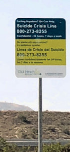 Rte 118 Suicide Prevention Sign