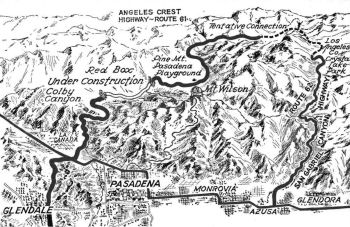 1939 Angeles Crest Map