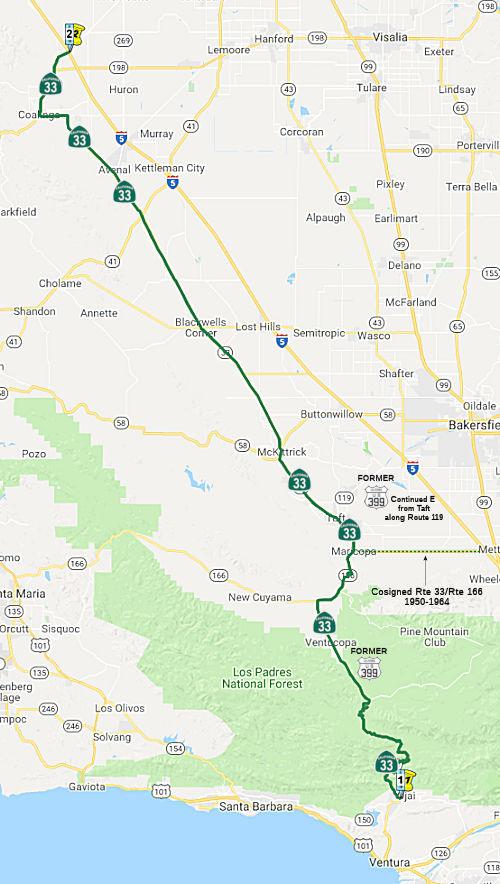 California Highways (www cahighways org): Routes 33 through 40