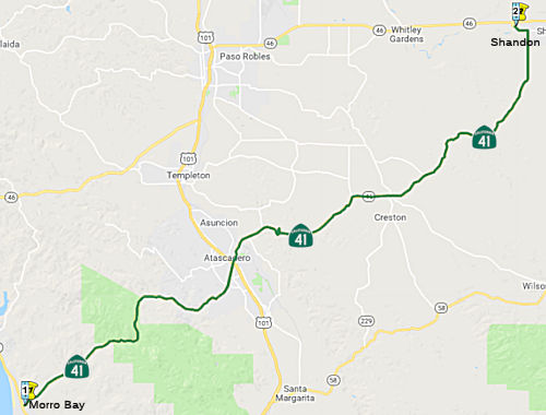 Highway 41 California Map.California Highways Www Cahighways Org Routes 41 Through 48
