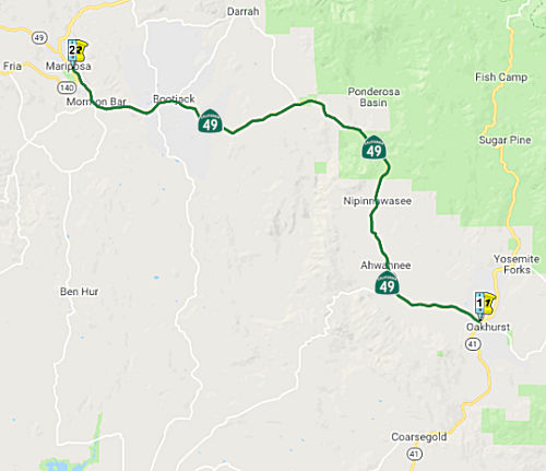 Highway 41 California Map.California Highways Www Cahighways Org Routes 49 Through 56