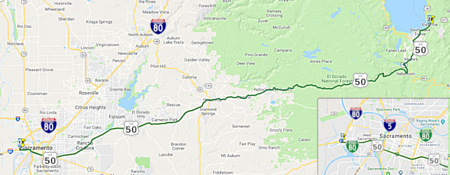California Highways Wwwcahighwaysorg Routes 49 Through 56 - Map-of-us-route-80
