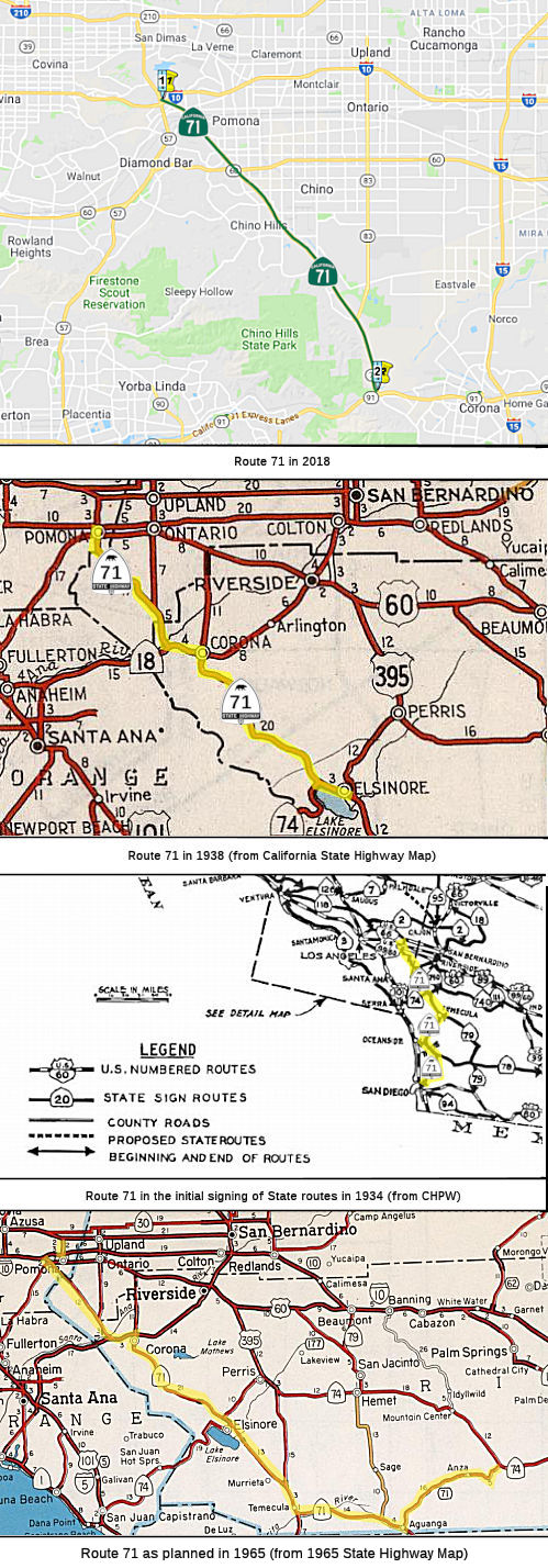California Highways (www cahighways org): Routes 65 through 72