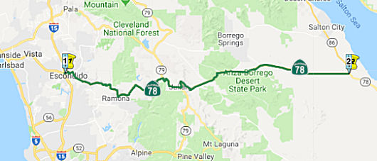 California Highways (www cahighways org): Routes 73 through 80