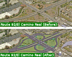 Route 92 - El Camino Real Interchange