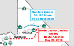 Route 120 Recission in Oakdale