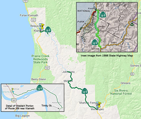 Highway 101 California Map.California Highways Www Cahighways Org Routes 169 Through 176