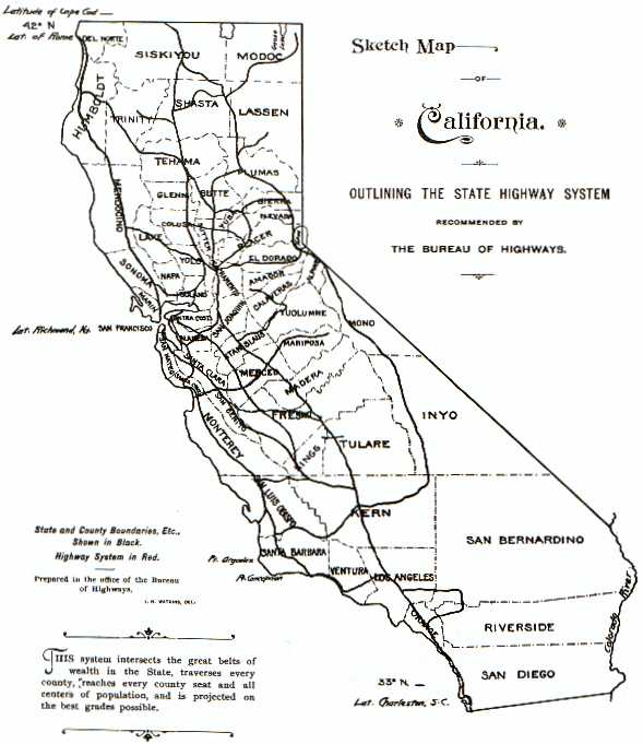 1896 State Highway Map