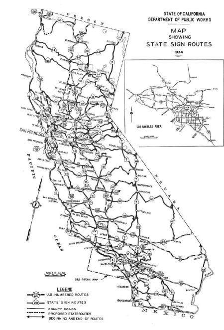 1934 State Sign Routes, from 1934 California Highways and Public Works