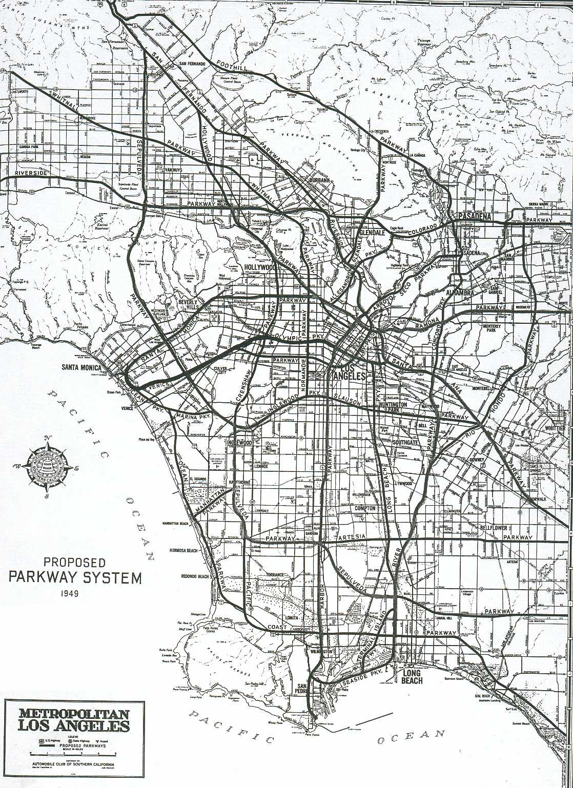 California highways cahighways southern california thumbnail 1949 acsc plan publicscrutiny Images
