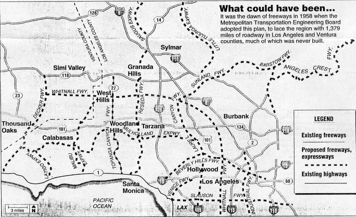 California Highways Wwwcahighwaysorg Southern California - Original map of us interstae system 1955