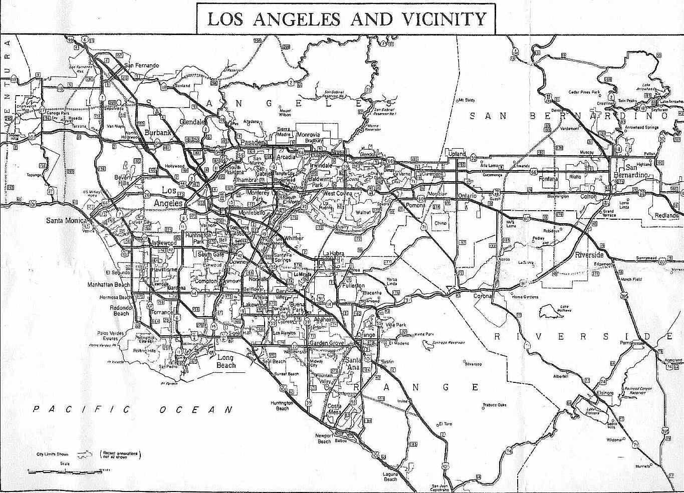 Los Angeles Freeways Stonebrown Design California Highways Us Freeway Map