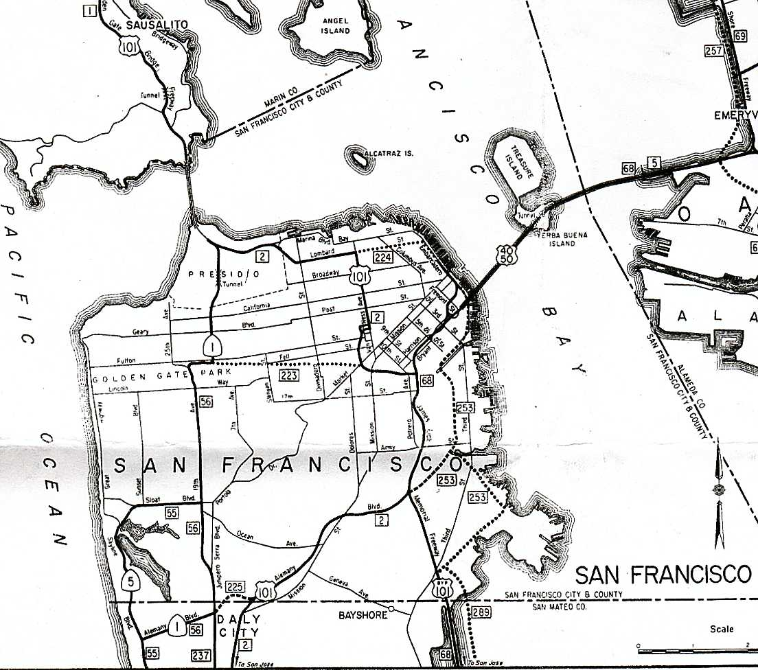 thumbnail of 1963 sf state highway map