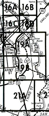 1967 Map Of Routes 82 87 280