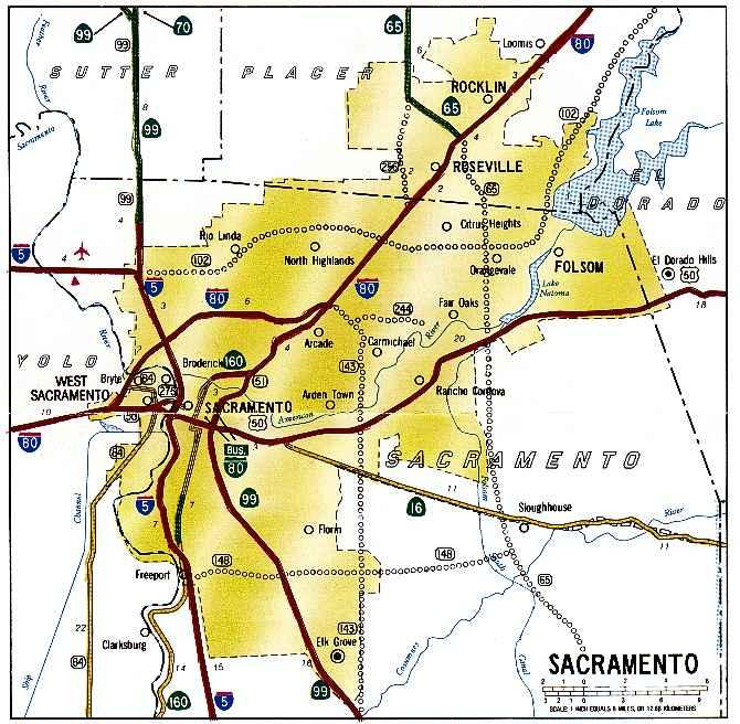 California Highways Wwwcahighwaysorg Sacramento Freeway - Us map with freeways