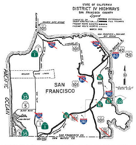California Highways wwwcahighwaysorg Routes 273 through 280