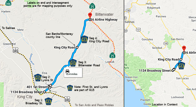 California Highways (www cahighways org): County Routes